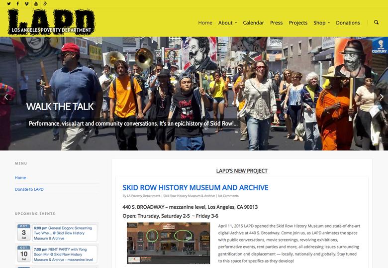 LAPD Website Design
