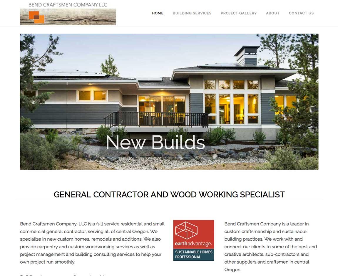 Bend Craftsmen Co Website Design