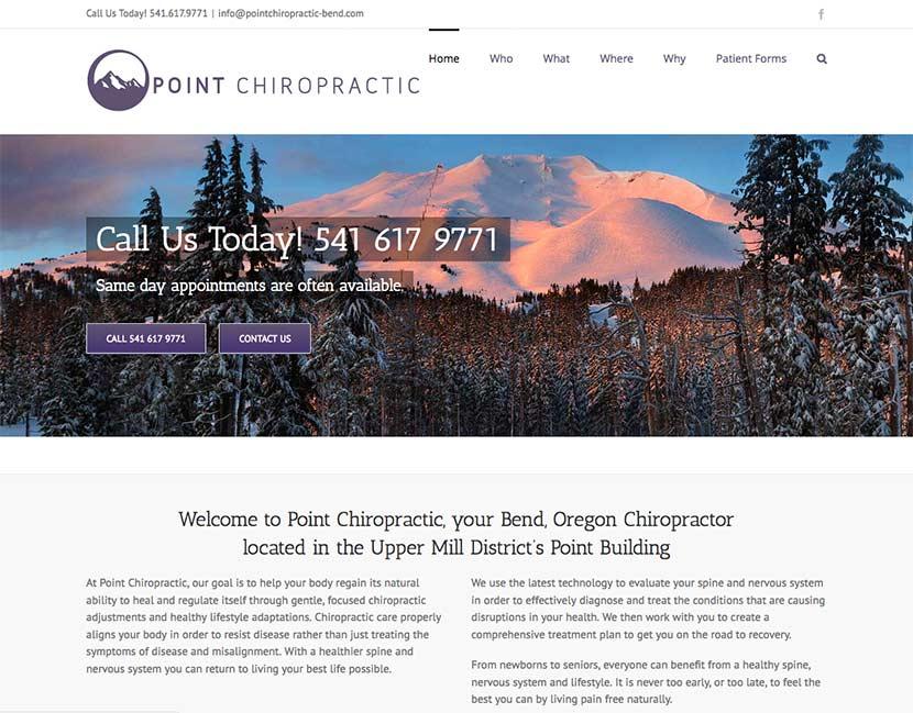 Point Chiropractic Website Redesign