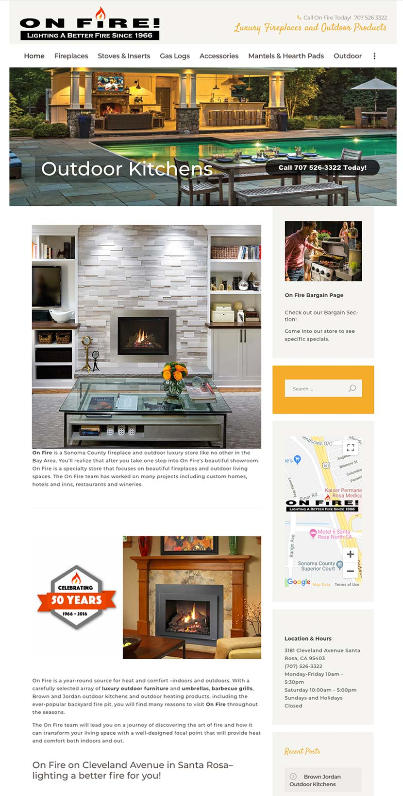 On Fire Website Redesign