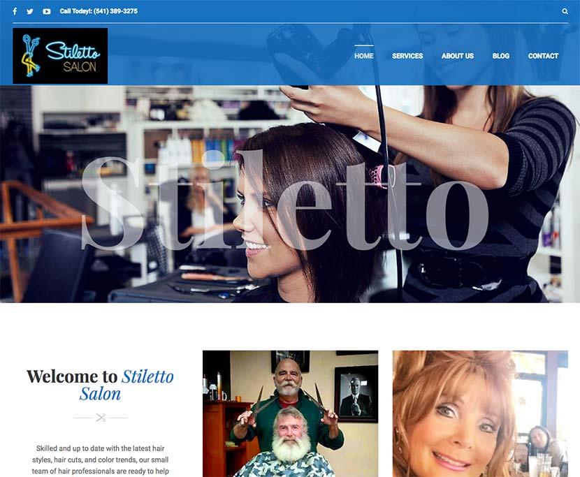 Stiletto Salon Website Redesign
