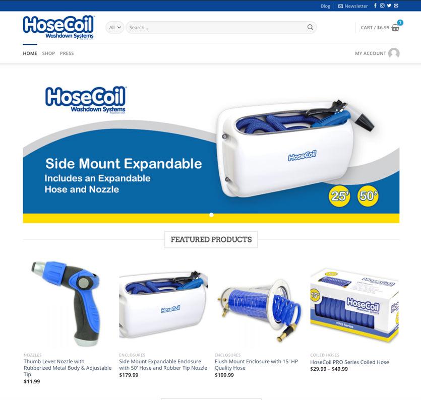Hosecoil E-commerce website