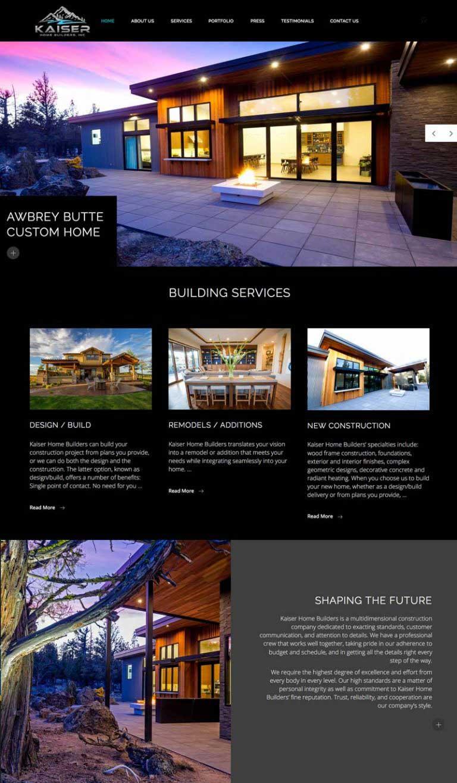 Kaiser Home Builders Website