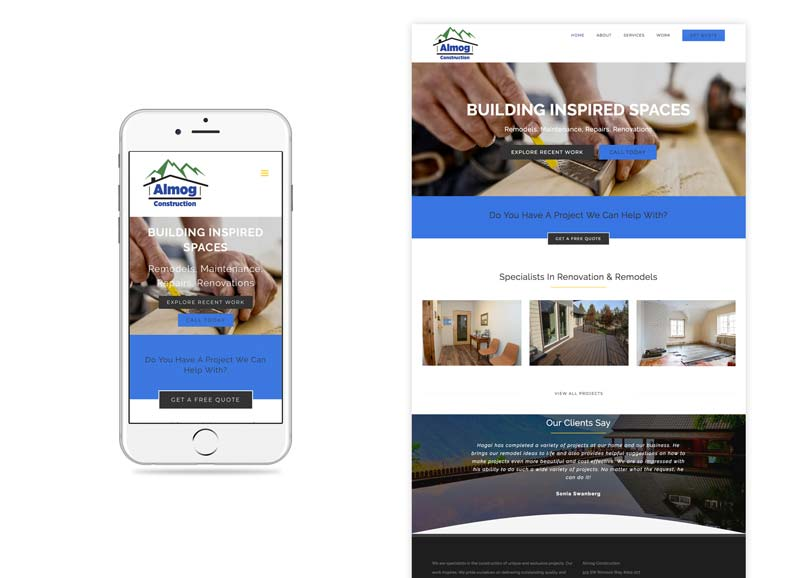 Almog Construction Website Design