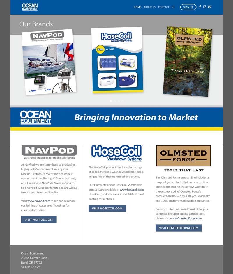 Ocean Equipment Website
