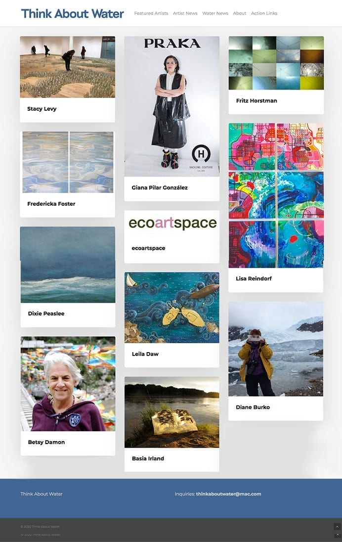 Thank about Water Artist Community Website